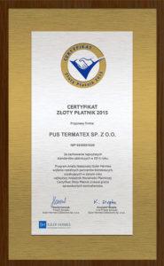 Certyfikat_ZlotyPlatnik2015_pl