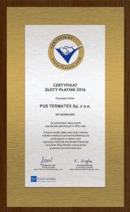 Certyfikat_ZlotyPlatnik2016_pl