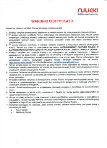 certyfikat ruukki 2